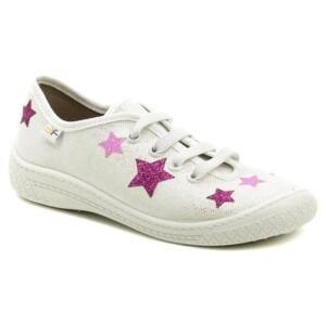 3F dětské bílo růžové tenisky s hvězdami 4BL14-4 - EU 34