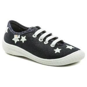 3F dětské modré tenisky s hvězdami 4BL14-7 - EU 34