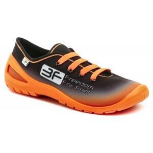3F dětské černo oranžové tenisky 4RX14-3 - EU 35