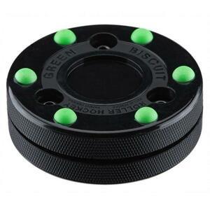Green Biscuit Inline Puk Roller Hockey - černá