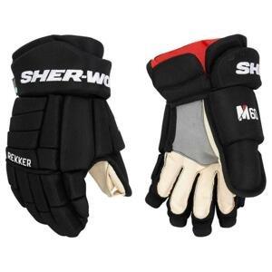 Hokejové rukavice Sher-wood Rekker M60 JR - černá-červená, Junior, 12