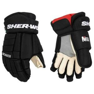 Hokejové rukavice Sher-wood Rekker M60 JR - černá-červená, Junior, 11