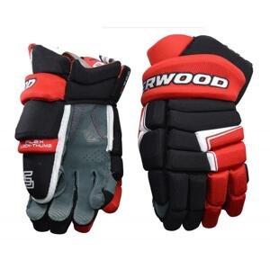 Hokejové rukavice Sher-wood Code III SR - černá-červená, Senior, 14