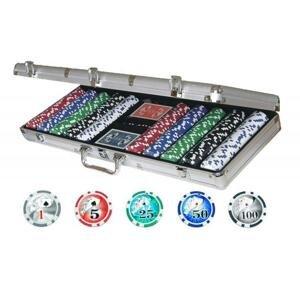 Lion Games Poker sada v hliníkovém kufříku 500 čipů s hodnotami + karty plastic