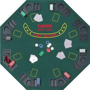Hot Sports Poker stůl osmihranný 125 cm skládací