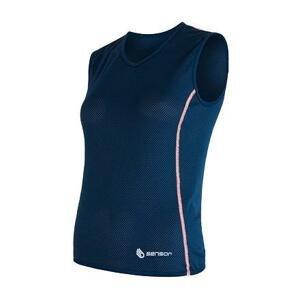 Sensor Coolmax Air tm. modré dámské triko bez rukávu - XL