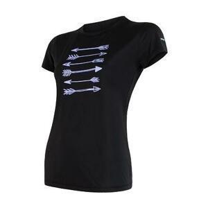 Sensor Coolmax Fresh Pt Arrows černé dámské triko krátký rukáv - M