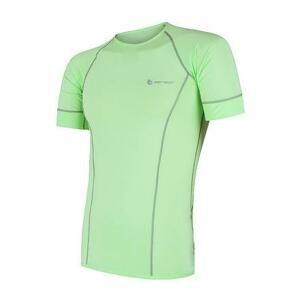Sensor Coolmax Fresh světle zelené pánské triko krátký rukáv - S