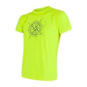Sensor Coolmax Fresh Pt Compass Reflex žluté pánské triko krátký rukáv - S