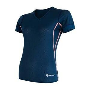 Sensor Coolmax Air tm. modré dámské triko krátký rukáv - XL