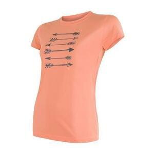 Sensor Coolmax Fresh Pt Arrows apricot dámské triko krátký rukáv - L