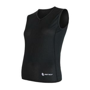 Sensor Coolmax Air černé dámské triko bez rukávu - L