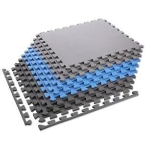 ONE FITNESS Ochranná puzzle podložka MP10 modro-šedá