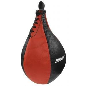 Sulov Boxovací hruška Split štípaná kůže černo-červená