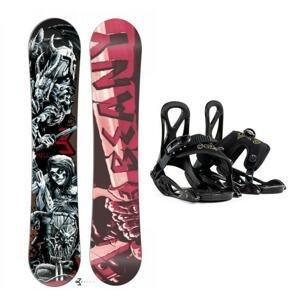 Beany Hell snowboard + Beany Kido dětské vázání - 140 cm + EU (EU 25-31)