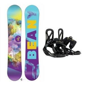 Beany Meadow dívčí snowboard + Beany Kido dětské vázání - 140 cm + EU (EU 25-31)