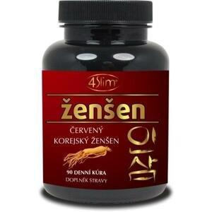 4Slim Červený korejský ženšen 500 mg 90kapslí