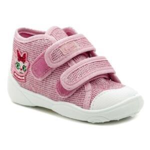 Befado 212P056 růžové dětské plátěné tenisky - EU 23