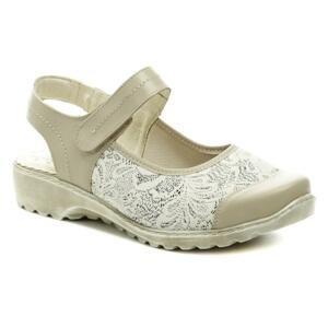 Axel AXCW148 béžová dámská obuv s volnou patou - EU 37