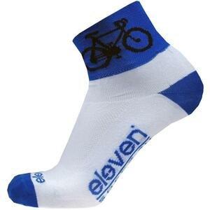Eleven Howa ROAD bílé/modré cyklistické ponožky - M (UK 5-7)