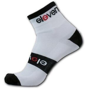 Eleven Howa PREMIUM bílé/černé cyklistické ponožky - L (UK 8-10)