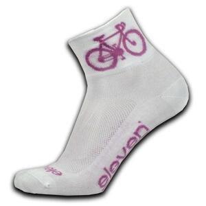 Eleven Howa ROAD bílé/růžové cyklistické ponožky - S (UK 2-4)