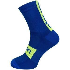 Eleven Suuri AKILES modré cyklistické ponožky - L (UK 8-10)