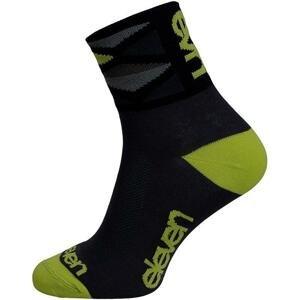 Eleven Howa Rhomb Green černé/zelené cyklistické ponožky - M (UK 5-7)