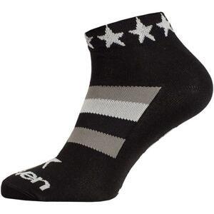 Eleven Luca STAR WHITE černé/bílé cyklistické ponožky - M (UK 5-7)