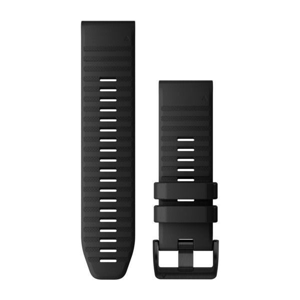Garmin Řemínek pro fenix6X QuickFit 26, silikonový, černý, černá přezka