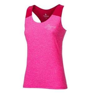 Progress Late dámské sportovní tílko - M-růžový melír/malinová