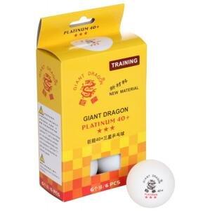 Giant Dragon Super 3-Star Platinum 40+ míčky na stolní tenis - 6 ks