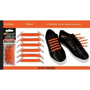 U-Lace Zázračné elastické tkaničky POUZE oranžové (VÝPRODEJ)