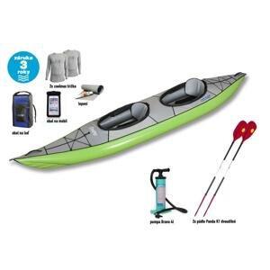 Gumotex Swing 2 SET - 1 (v ceně pádla, pumpa, vak, obal na doklady, termotrička) + sleva 600,- na příslušenství - barva lodě zelená
