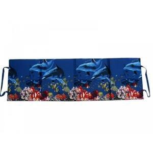 Skládací plážové molitanové lehátko Trieste-7 3 cm - Delfíni + korály