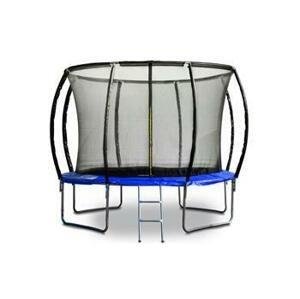 G21 Trampolína SpaceJump, 305 cm, modrá, s ochrannou sítí + schůdky zdarma