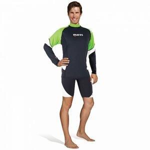 Mares Pánské lycrové triko RASHGUARD LOOSE FIT, dlouhý rukáv - M zelená