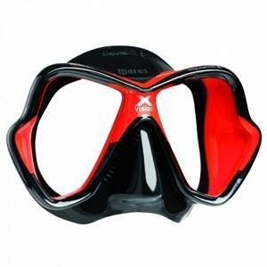 Mares Maska X-VISION LiquidSkin - černá/červená (dostupnost 5-7 dní)