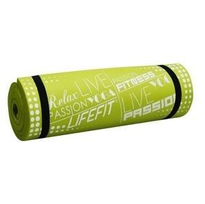 Lifefit Podložka Yoga MAT Exkluziv Plus 180x58x1,5cm světle zelená