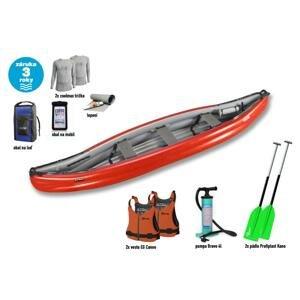 Gumotex Scout Standart SET 2 kanoe (v ceně 2x pádla, 2x vesta, 2x triko, pumpa, vak, lepení) + sleva 1500,- na příslušenství - barva lodě červená
