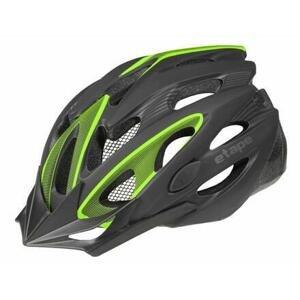 Etape Biker cyklistická helma černá-zelená - S/M (55-58 cm)