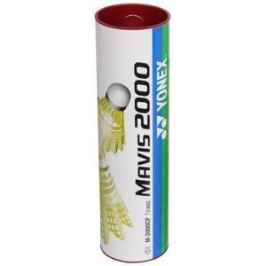 Yonex Mavis 2000 badmintonové míčky červená - tuba 6 ks