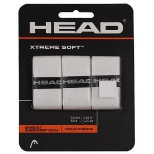Head XtremeSoft 3 overgrip omotávka tl. 0,5 mm bílá - 3 ks
