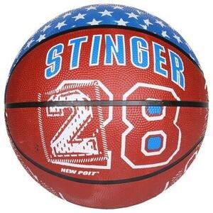 New Port Print basketbalový míč hnědá - č. 7