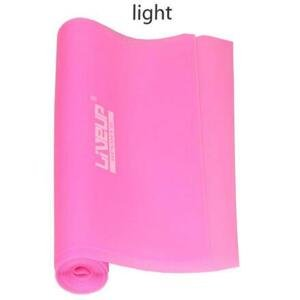LiveUp Aerobic guma posilovací guma 120 x 15 cm růžová - L