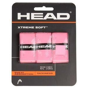 Head XtremeSoft 3 overgrip omotávka tl. 0,5 mm růžová - 3 ks