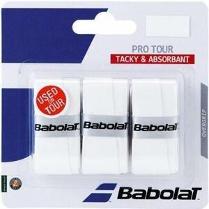 Babolat Pro Tour overgrip 2016 vrchní omotávka 0,6 mm bílá - 3 ks