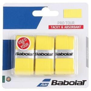 Babolat Pro Tour overgrip 2016 vrchní omotávka 0,6 mm žlutá - 3 ks