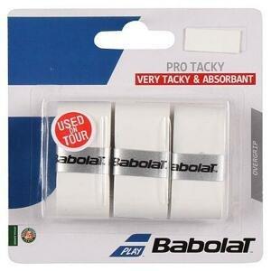 Babolat Pro Tacky overgrip omotávka 0,6 mm bílá - 3 ks