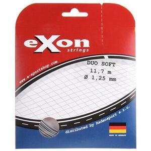 Exon Duo Soft tenisový výplet 11,7 m černá-stříbrná - 1,20
